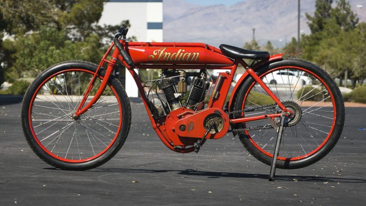 Indian Board Track Racer 3 740x416 - 1912 Indian Twin Board Track Racer