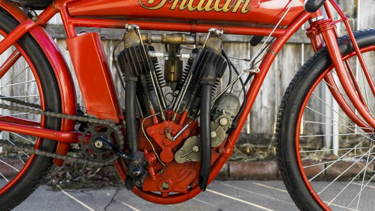 Indian Board Track Racer 5 740x416 - 1912 Indian Twin Board Track Racer