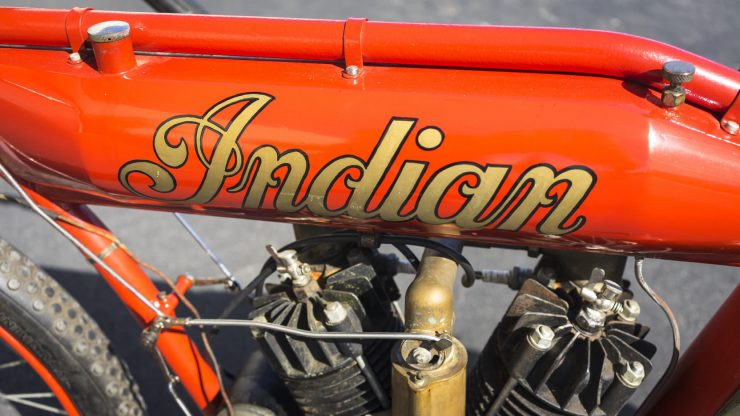 Indian Board Track Racer 7 740x416 - 1912 Indian Twin Board Track Racer