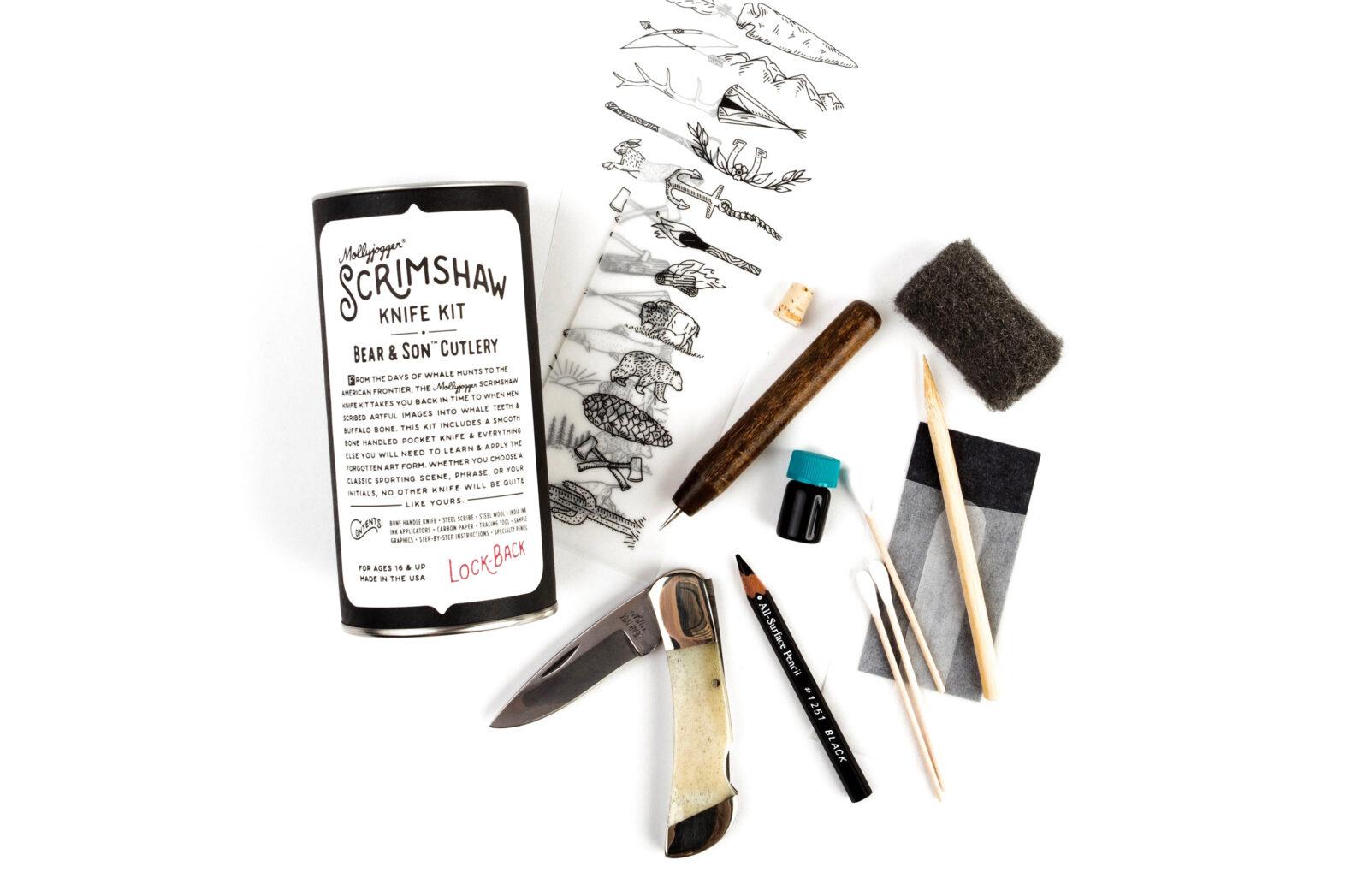 Mollyjogger's Bear Son Scrimshaw Knife Kit 1600x1047 - Mollyjogger's Bear & Son Scrimshaw Knife Kit