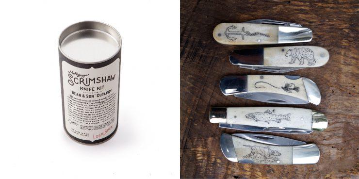 Mollyjogger's Bear Son Scrimshaw Knife Kit 2 740x369 - Mollyjogger's Bear & Son Scrimshaw Knife Kit