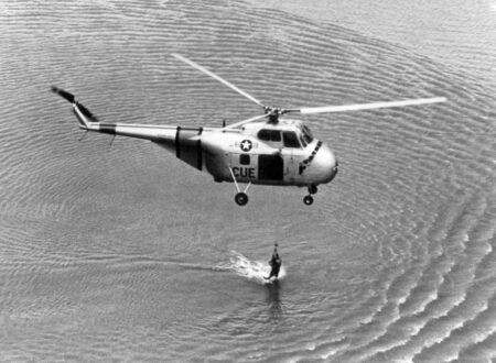 Sikorsky H 19 Chickasaw 450x330 - 1961 U.S. Air Force Training Film: Helicopter Rescue Operations