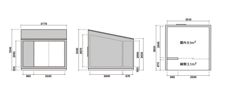 Tiny Muji House Floorplan 740x318 - The $26,300 Muji Hut