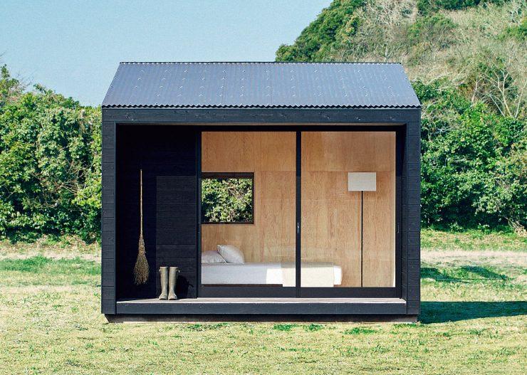 Tiny Muji House Front 740x527 - The $26,300 Muji Hut