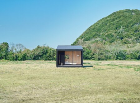 Tiny Muji House Outside 450x330 - The $26,300 Muji Hut