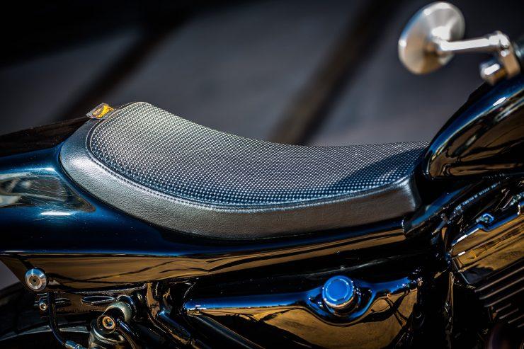 harley davidson tracker motorbike 12 740x493 - Mule Motorcycles - The Midnight Express Harley Tracker