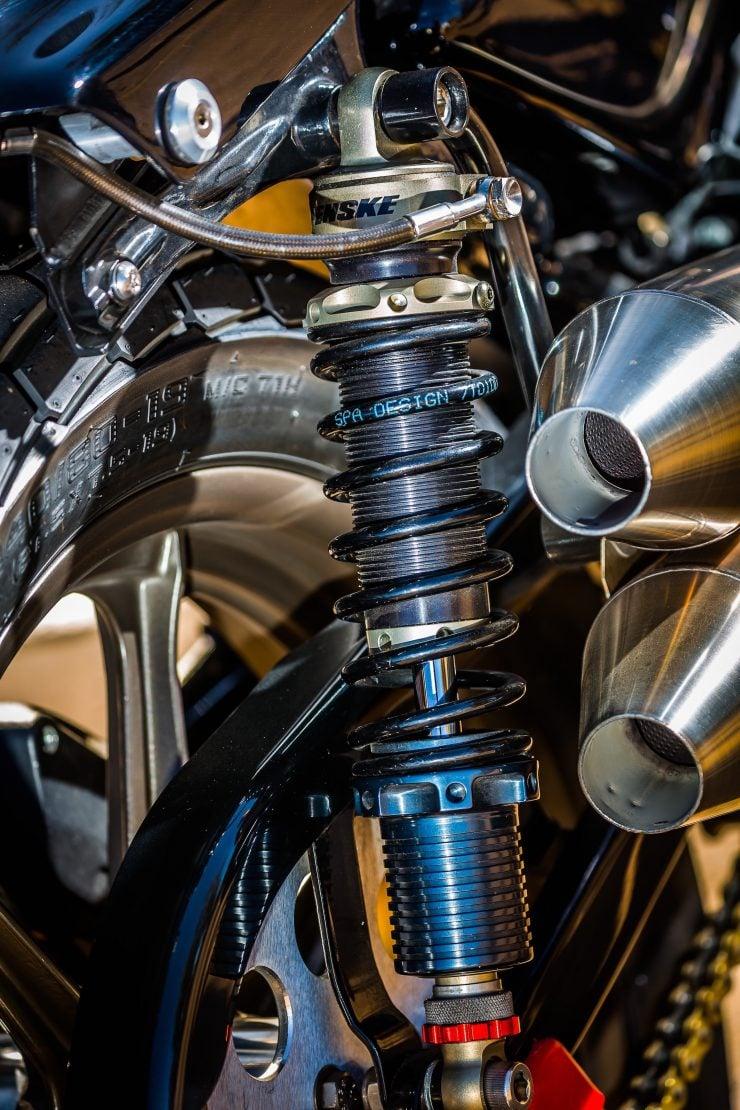 harley davidson tracker motorbike 13 740x1110 - Mule Motorcycles - The Midnight Express Harley Tracker