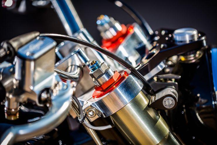 harley davidson tracker motorbike 18 740x493 - Mule Motorcycles - The Midnight Express Harley Tracker
