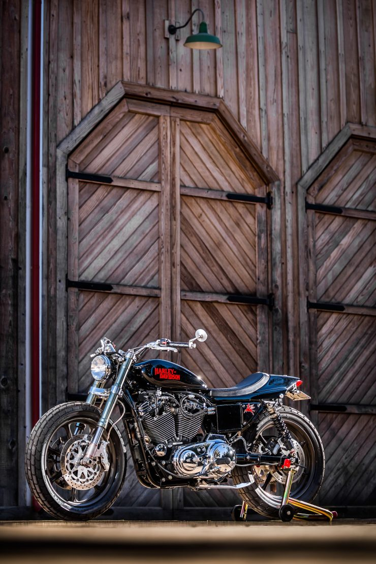 harley davidson tracker motorbike 21 740x1110 - Mule Motorcycles - The Midnight Express Harley Tracker