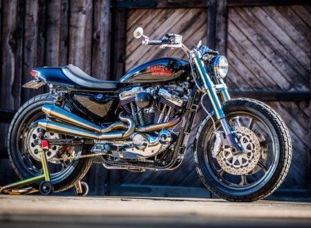 harley davidson tracker motorbike 4 450x330 - Mule Motorcycles - The Midnight Express Harley Tracker
