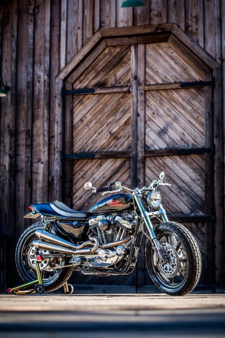 harley davidson tracker motorbike 5 740x1110 - Mule Motorcycles - The Midnight Express Harley Tracker