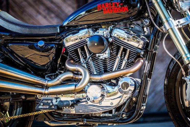 harley davidson tracker motorbike 7 740x493 - Mule Motorcycles - The Midnight Express Harley Tracker