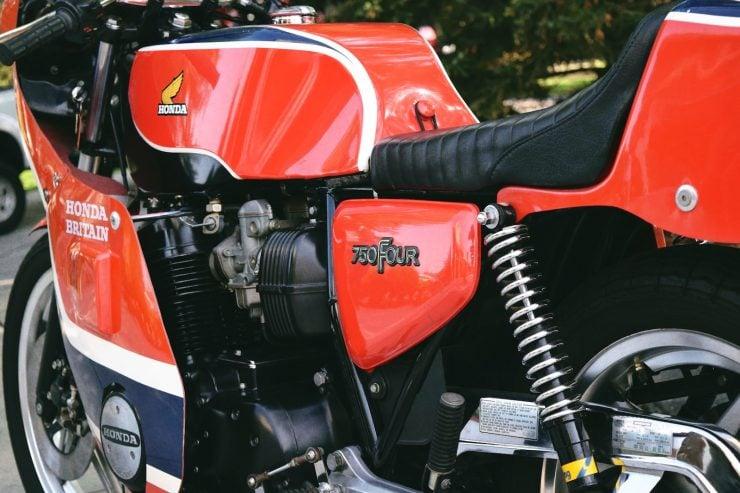honda cb750 motorbike 2 740x493 - Rare Original Honda CB750 Phil Read Replica