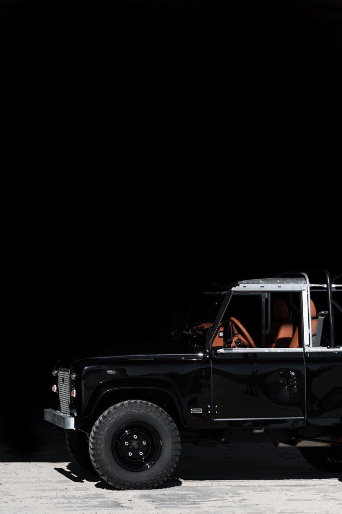 land rover defender car 14 - Jet Black Custom Land Rover Defender