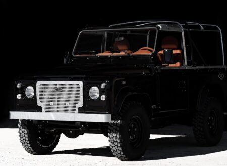 land rover defender car 16 450x330 - Jet Black Custom Land Rover Defender