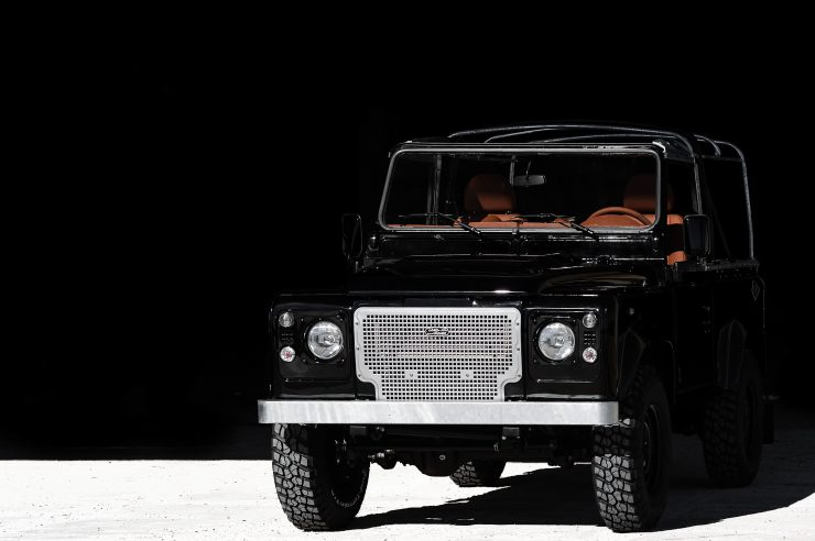 land rover defender car 4 740x492 - Jet Black Custom Land Rover Defender