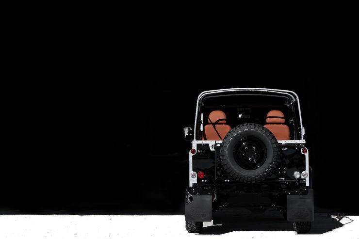land rover defender car 8 740x493 - Jet Black Custom Land Rover Defender