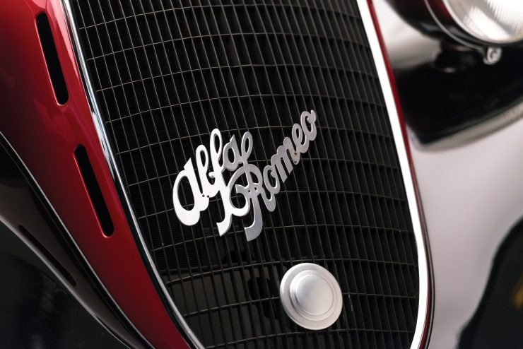 Alfa Romeo 6C 2500 Logo 740x494 - 1942 Alfa Romeo 6C 2500 SS Spider