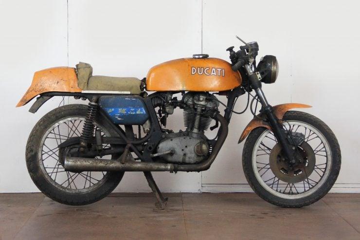 Ducati 450 Desmo Barn Find 740x493 - 1974 Ducati 450 Desmo MK 3