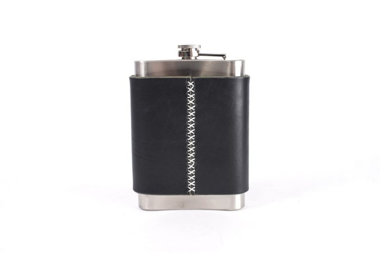 Flask black back low 740x494 - Go Forth & Do Good Flask