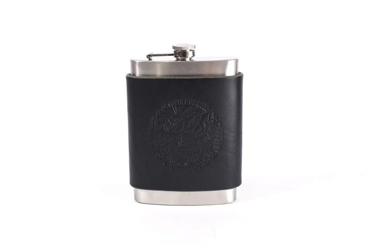 Flask black low 740x494 - Go Forth & Do Good Flask