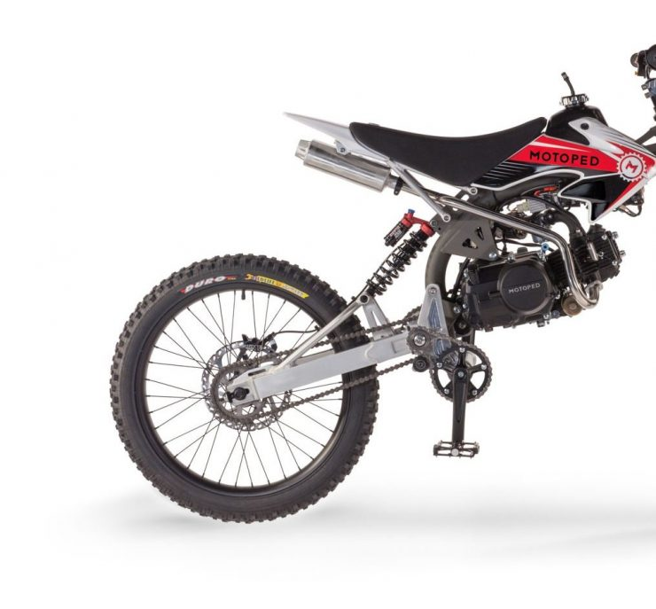 Motoped Pro motorized bicycle Back 740x687 - Motoped® Pro