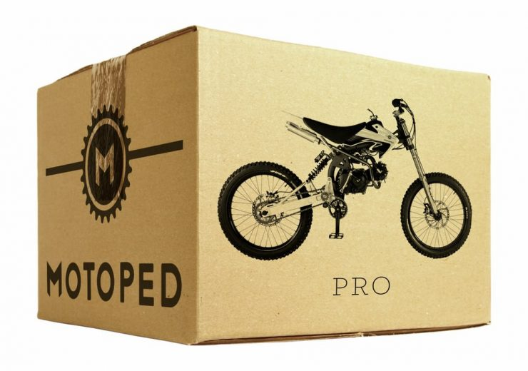 Motoped Pro motorized bicycle Box 740x520 - Motoped® Pro
