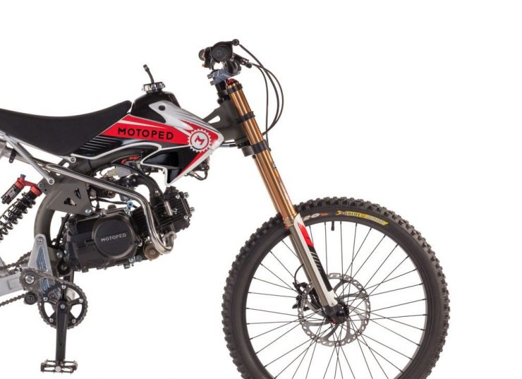 Motoped Pro motorized bicycle Front 740x537 - Motoped® Pro