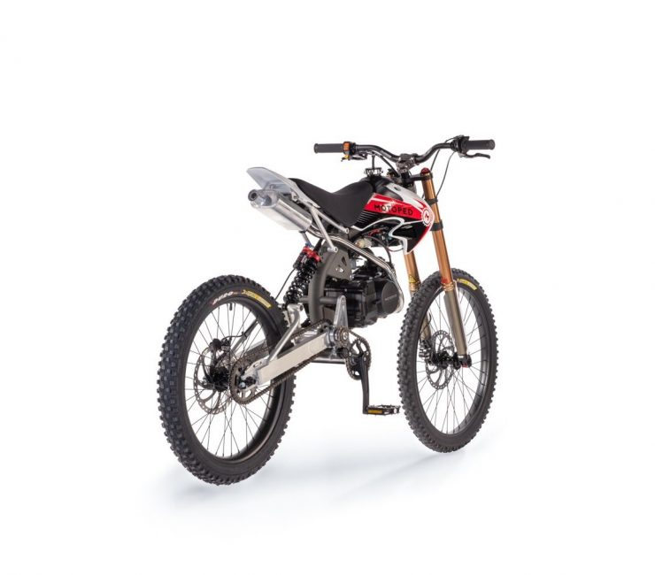 Motoped Pro motorized bicycle Rear Side 740x650 - Motoped® Pro