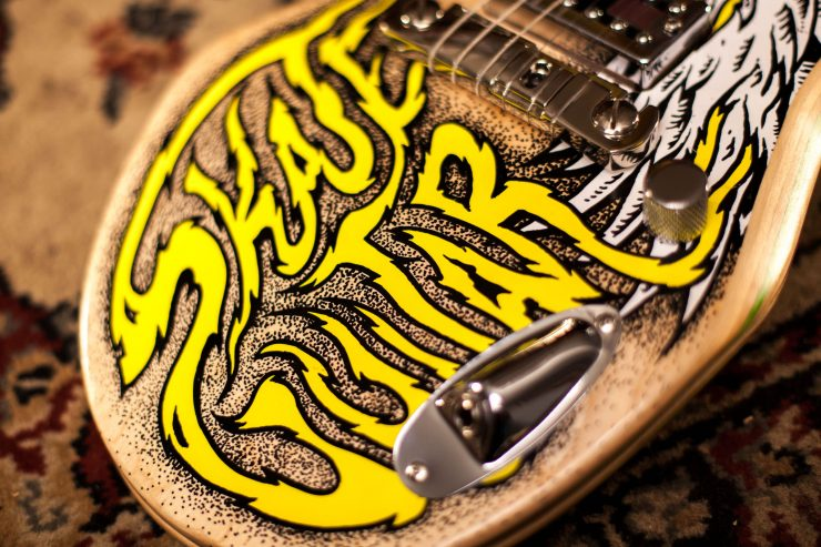 Musk Skateboard Guitars 2 1 740x493 - Musk Skateboard Guitars