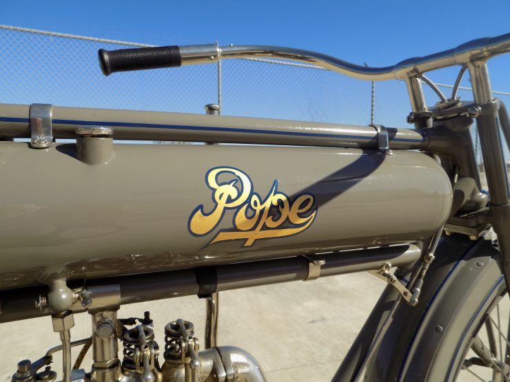Pope Motorcycle 7 740x555 - Steve McQueen's Pope Model K Motorcycle