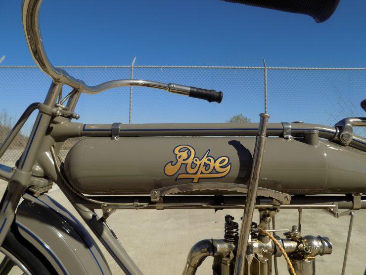 Pope Motorcycle 9 740x555 - Steve McQueen's Pope Model K Motorcycle