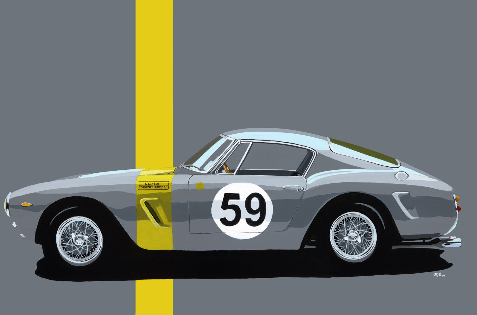 Art of Jean Yves Tabourot Ferrari 250 GT SWB 1600x1056 - The Art of Jean-Yves Tabourot