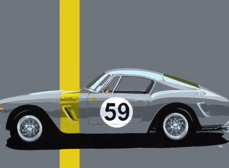 Art of Jean Yves Tabourot Ferrari 250 GT SWB 450x330 - The Art of Jean-Yves Tabourot
