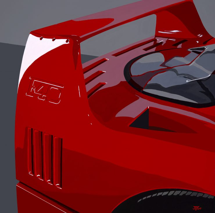 Art of Jean Yves Tabourot Ferrari F40 740x735 - The Art of Jean-Yves Tabourot