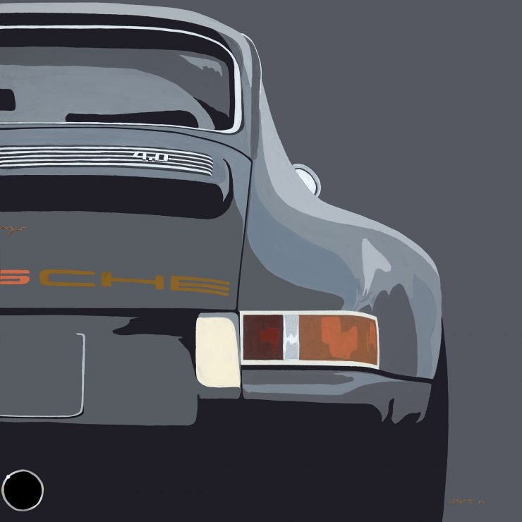 Art of Jean Yves Tabourot Porsche 911 740x740 - The Art of Jean-Yves Tabourot