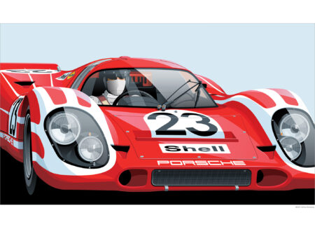 Automotive Art of Arthur Schening Porsche 917 450x330 - The Automotive Art of Arthur Schening