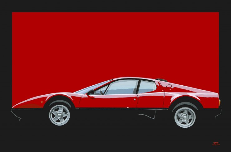 Ferrari 512 BB 740x488 - The Art of Jean-Yves Tabourot