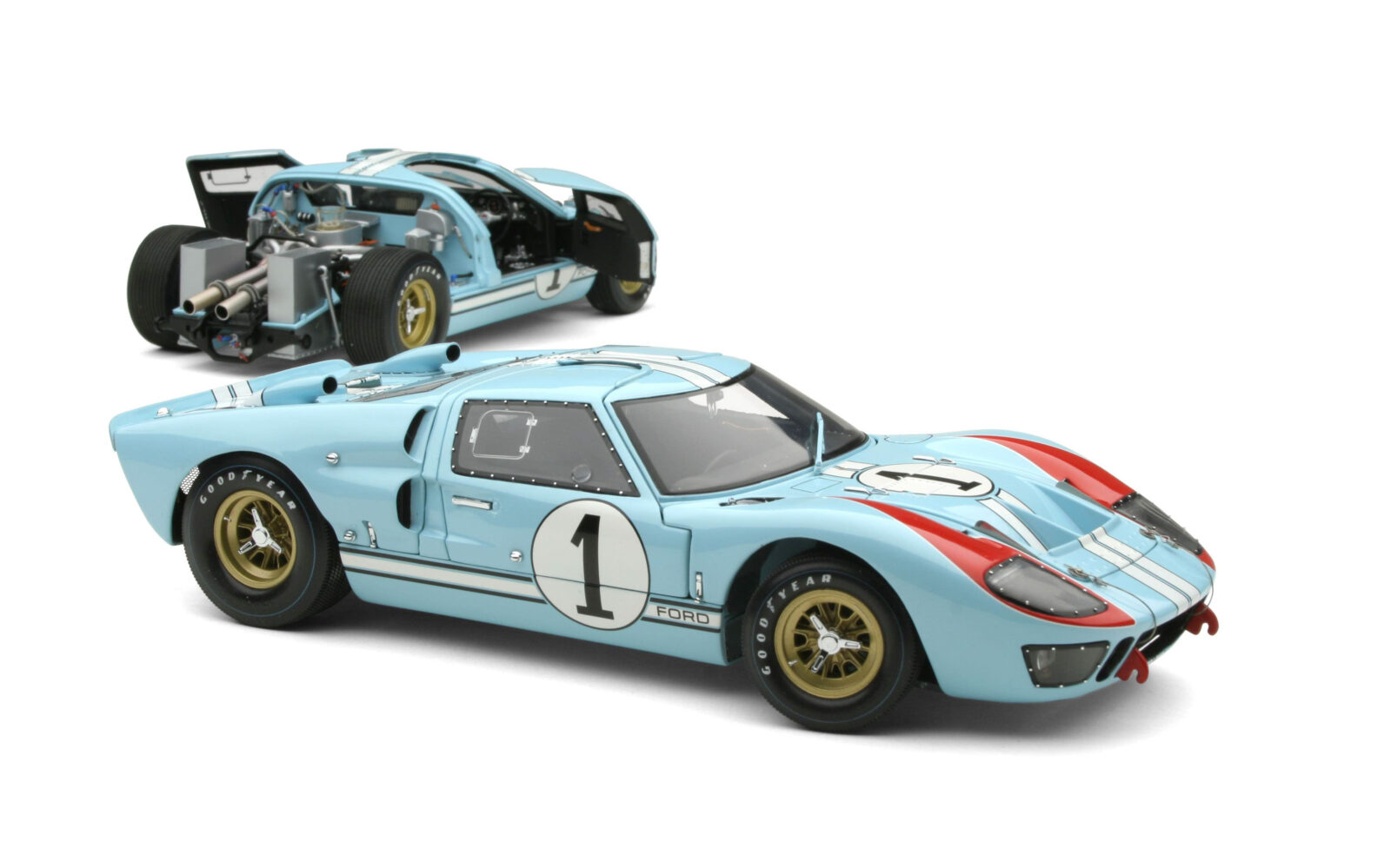 Ford GT40 Scale Model 1600x999 - 1966 Le Mans Ford GT40 GMP 1:12 Scale Model
