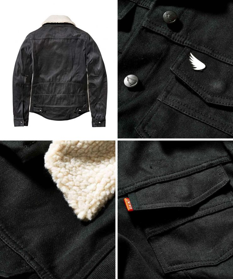 Saint Unbreakable Denim Motorcycle Jacket 740x887 - Saint Unbreakable Denim Fur Motorcycle Jacket