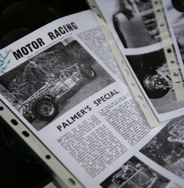 Tojeiro Butterworth AJB Vintage Car Newspaper 740x757 - 1956 Tojeiro-Butterworth AJB Air-Cooled Racing Car