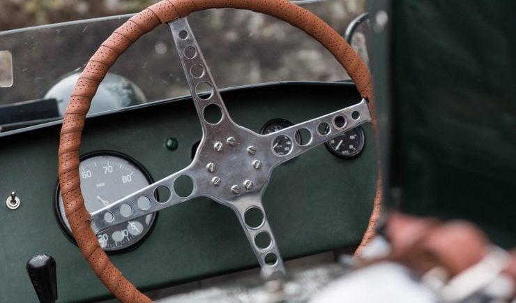 Tojeiro Butterworth AJB Vintage Car Steering Wheel 740x434 - 1956 Tojeiro-Butterworth AJB Air-Cooled Racing Car