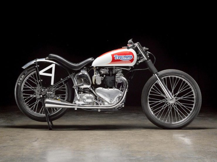 Triumph Bonneville Motorcycle 1 740x553 - 1951 Triumph 6T Thunderbird - Salt Flat Racer