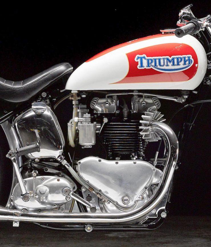 Triumph Bonneville Motorcycle 10 740x864 - 1951 Triumph 6T Thunderbird - Salt Flat Racer