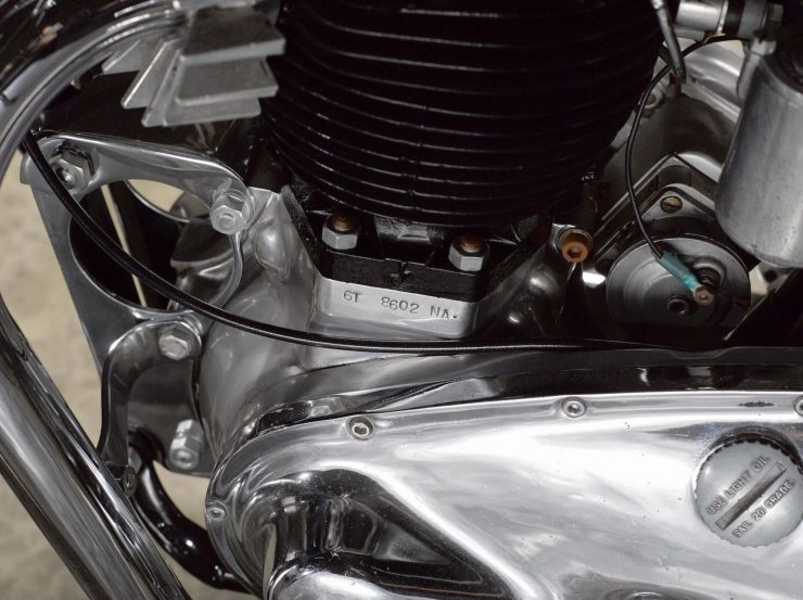 Triumph Bonneville Motorcycle 4 740x553 - 1951 Triumph 6T Thunderbird - Salt Flat Racer