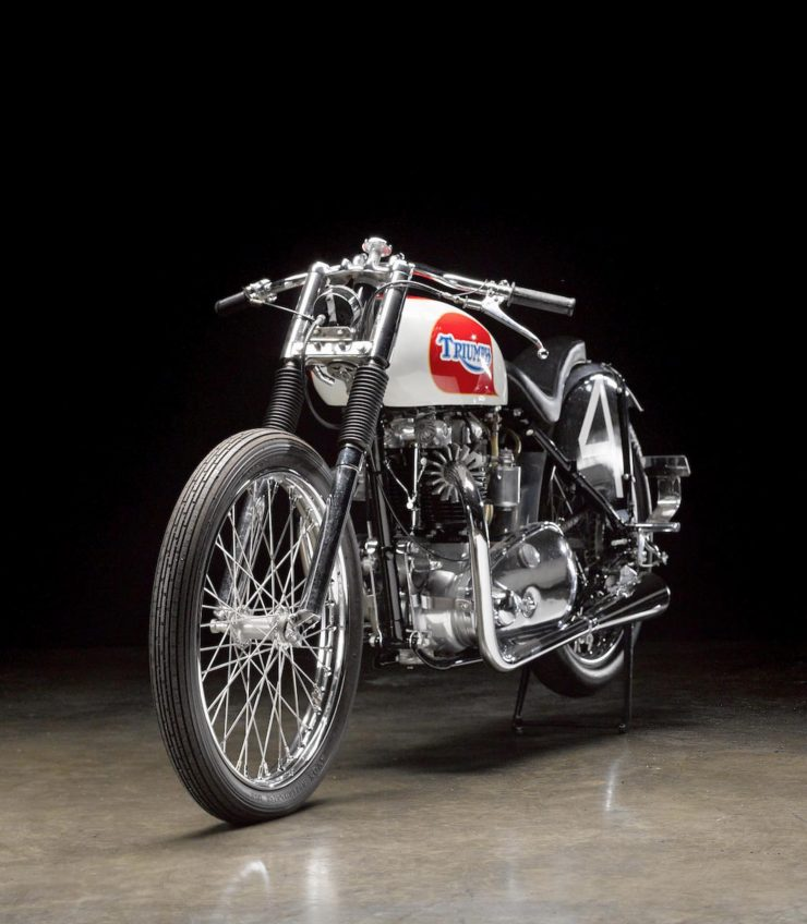 Triumph Bonneville Motorcycle 7 740x848 - 1951 Triumph 6T Thunderbird - Salt Flat Racer