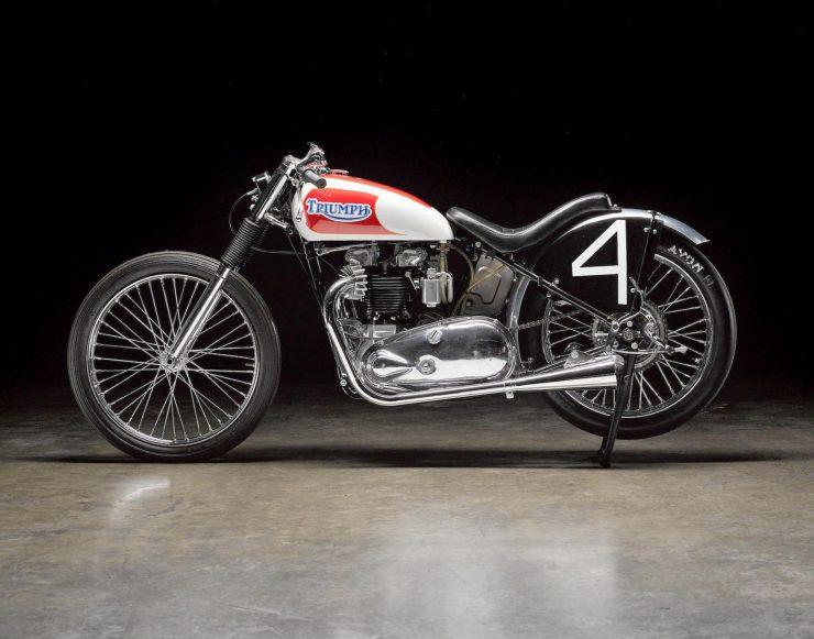 Triumph Bonneville Motorcycle 8 740x581 - 1951 Triumph 6T Thunderbird - Salt Flat Racer