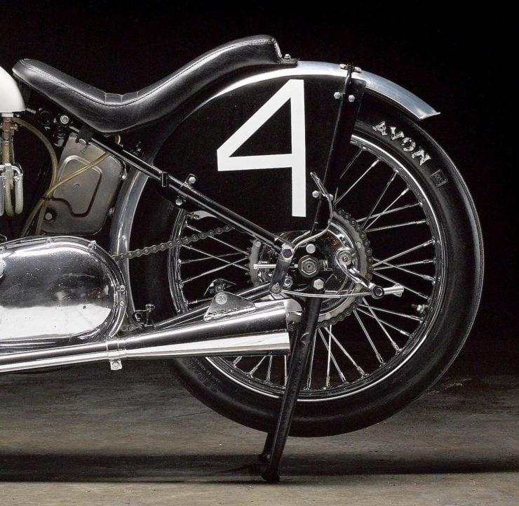 Triumph Bonneville Motorcycle 9 740x721 - 1951 Triumph 6T Thunderbird - Salt Flat Racer