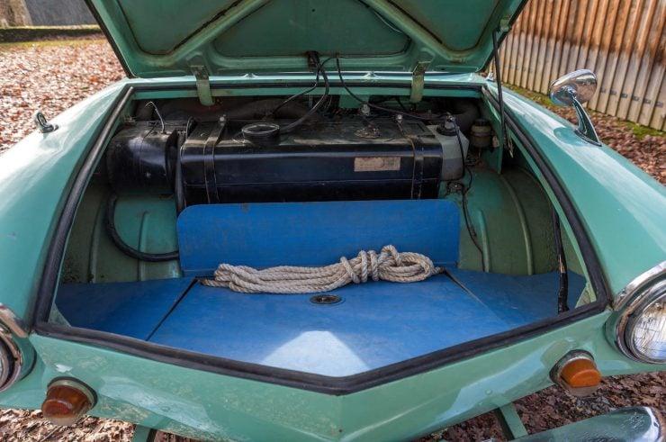 amphibious classic car amphicar trunk 740x491 - An Amphibious Classic: The 1963 Amphicar 770