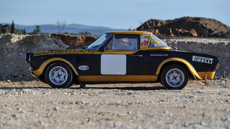 fiat 124 abarth 20 740x415 - Ex-Works 1975 Fiat Abarth 124 Rallye Group 4 Spider